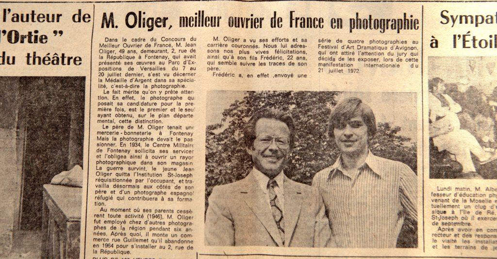 J.Oliger meilleur ouvrier de France