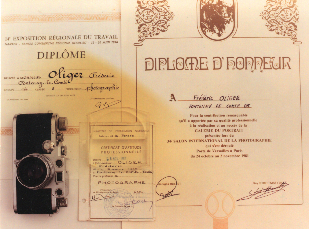 Frédéric Oliger diplôme de photographie.