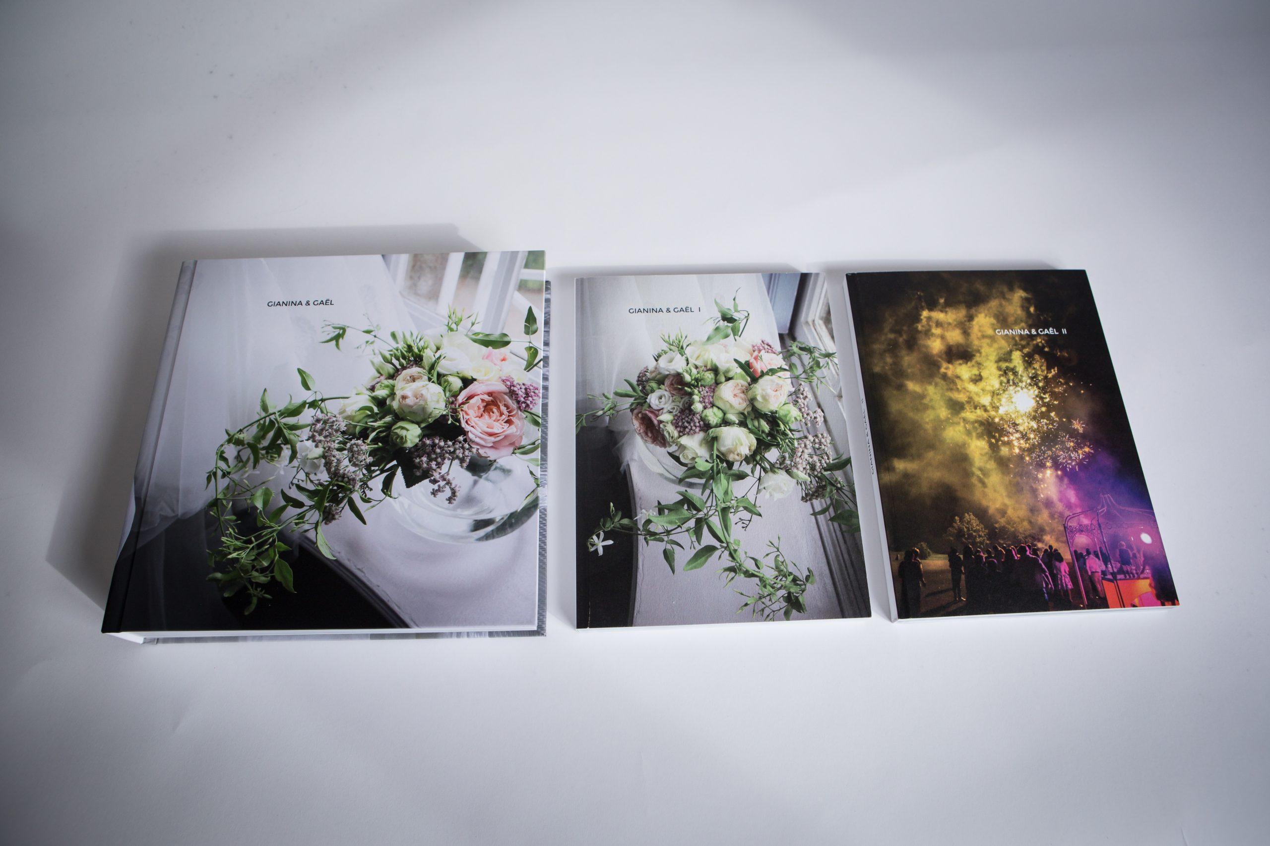 Albums de mariage.